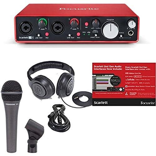 Focusrite Scarlett audio interface for podcast recording